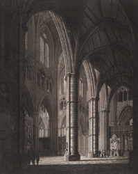 Internal view of Westminster Abbey from Poet's Corner